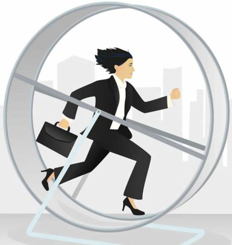 Image result for woman in a hamster wheel image