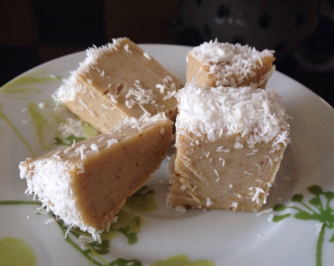 Raw Coconut Durian Fudge