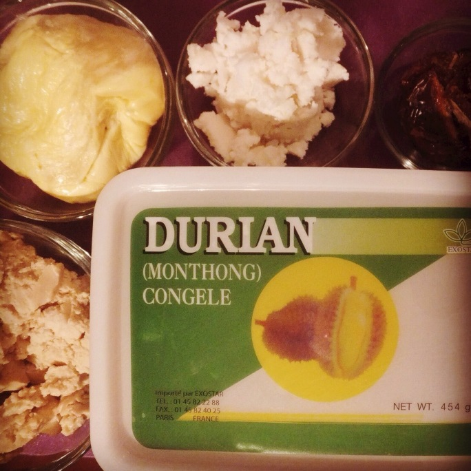 Durian fudge ingredients